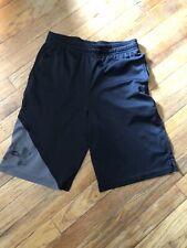 Boys Under Armour Youth Large Loose Black Shorts EUC