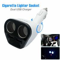 DC 12V Car Cigarette Lighter Adapter 2 Way Double Plug Socket Charger Splitter