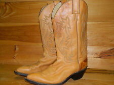2000's Tan Western Style Boots By Justin Size 8 B USA Made Used- Very Good Cond
