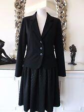 ELEMENTE CLEMENTE Black Crepe DEBRA Short Fitted Blazer Jacket II 12 14 BNWT