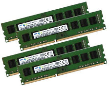 4x 8gb 32gb Samsung Memoria RAM DIMM ddr3 1600 MHz 240 PIN DESKTOP pc3-12800u