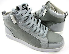 Clae Shoes Russell Gravelball Leather Gray/White Sneakers Size 8
