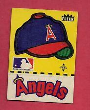 RARE 1980 FLEER ANGELS LOGO STICKERS CARD