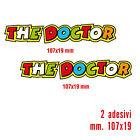 KIT 2 ADESIVI STICKERS THE DOCTOR VALENTINO ROSSI...FANTASTICI...VERNICIABILI!