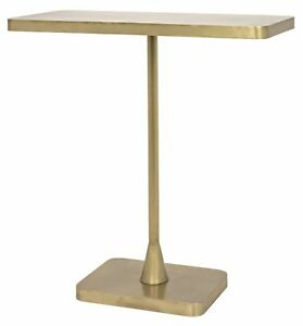 """26"""" Set of Two Side Table Night Stand Metal Antique Brass Vintage Finish  7280"""