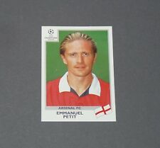 28 EMMANUEL PETIT ARSENAL GUNNERS PANINI FOOTBALL CHAMPIONS LEAGUE 1999-2000