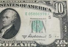 1950B $10 Green Federal Richmond *** STAR ***! Old US Paper Money Currency!