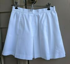 Le Coq Sportif Sz 6 White 100% Polyester Pleated Vintage Tennis Skirt