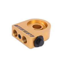 Mishimoto Thermostatic Universal Oil Filter Sandwich Take Off Plate - Gold