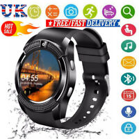 V8 Smart Watch&SIM Phone&Bluetooth Camera&GPS For Samsung iphone iOS Android UK~
