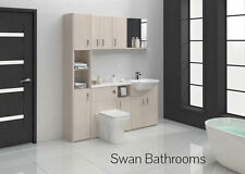 WHITE AVOLA BATHROOM FITTED FURNITURE 1700MM WITH WALL UNITS