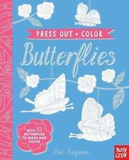 Press-Out and Color Butterflies Art Craft Book 2017, Hardcover NEW