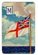Rare 1940s WWII Royal Navy WARSHIPS SWAP CARD THE WHITE ENSIGN