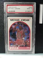 1989 MICHAEL JORDAN Hoops #200 PSA MINT 9 Chicago BULLS 1989 MJ JORDAN Mint 9 MJ