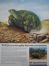 8/89 PUB DAF SPECIAL PRODUCTS ROYAL NETHERLANDS ARMY ARMOURED VEHICLE TORTUE AD