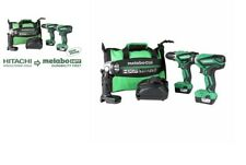 Metabo HPT 12-Volt Max 3Tool Power Tool Combo Kit W/Case 2-Batteries + 1 Charger