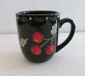 "Los Angeles Pottery Laurie Gates CHERRIES 4"" Mug"