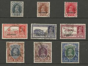 BAHRAIN GVI FINE USED SELECTION TO 5rs CAT £194