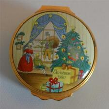 "Halcyon Days Enamels Rare ""Christmas 1980"" Trinket Box"