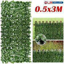 More details for artificial faux ivy leaf hedge panels roll privacy screening decor garden fence