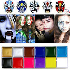 Professional Face Body Paint Oil Painting Art Make Up Halloween Party Kit Set