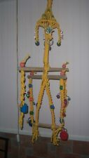 Hand Made Bird Swing & Perch / Activity Toy, Perches