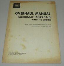 Overhaul Manual Volvo Penta AQ 200 A B - AQ 225 A B Engine Units März 1975!