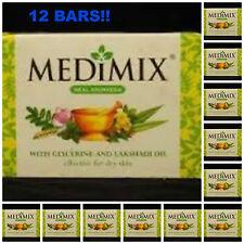 12 LOT Medimix Soap 125grams XXL w/ Glycerine & Lakshadi Oil USA BEST PRICE