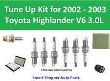 Tune Up Kit 2002-2003 Toyota Highlander Cabin Air Filter, Oil Filter, PCV Valve