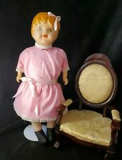 """24"""" Am. Doll Co. Composition Doll. Excelsior Stuffing Beautiful Condition"""