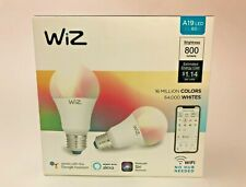WiZ Connected Light Bulbs A19 800lm LED WiFi Smart Color R Voice Control