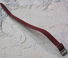 LAST ONES! Maroon braided nylon 12mm vintage watch strap 1960s tropical type