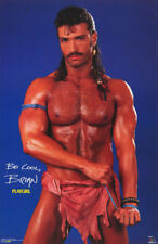 LOT OF 2 POSTERS:PLAYGIRL: BRIAN MOSS - SEXY MALE MODEL - FREE SHIP #3215 RC45 R