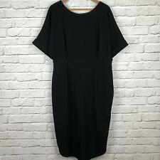 ASOS UK18 Little Black Dress Pencil Batwing Sleeve Midi Length BNWT