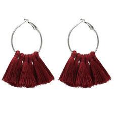 Fashion Earrings Women Vintage Long Tassel Fringe Boho Drop Dangle Ear Stud Hoop