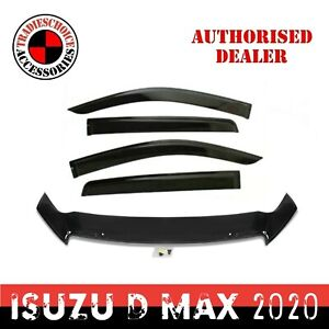Bonnet Protector, Weathershields For Isuzu D-MAX 08/2020+ MY21 Window Visors