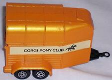 Rice Gt Britain Beaufort Double Horse Box Metal Toy Trailer Corgi Pony Club NICE