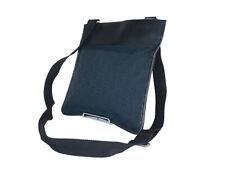 GUCCI GG Web Canvas Leather Black Crossbody Shoulder Bag GS2395