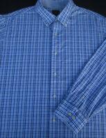 Tailorbyrd Mens Button Front Long Sleeve Cotton Plaid Shirt 2X 2XL XX XXL