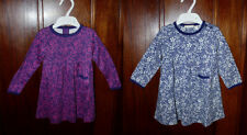 Ex Chainstore Baby Girls Classic Navy Purple Floral Ditsy Dress  6 to 12 months