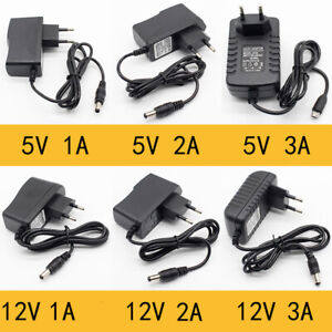 5V/12V DC Steckernetzteil 5,5*2,1mm Hohlstecker Netzteil Schaltnetzteil Trafo