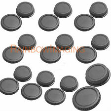 "Rear Lens Cover + Camera Body Cap for Canon DSLR SLR Lens x 10pcs ""US Shipping"""