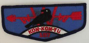 OA Kon-Kon-Tu Lodge 107 F2 Flap BLK Bdr. South Jersey, NJ (GLUE ON BACK) [TK-484