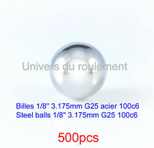 BILLE ACIER 1/8 3.175mm 100c6 GRADE 25 STEEL BALL pour F1 XRAY PAN CAR RC 500pcs