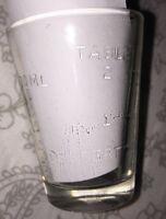 Vtg Glasco Dessert Measuring Shot Glass 1 oz - Tablespoons/Teaspoons 30ML