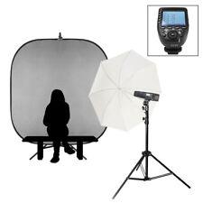 Individual Escuela Portátil Retrato Flash Kit Canon Batería Potencia Luces 200Ws