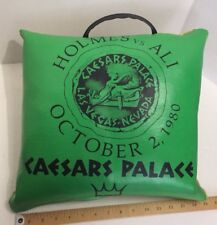 Holmes vs Muhammad Ali 1980 Caesars Las Vegas Boxing Fight Souvenir Green Pillow