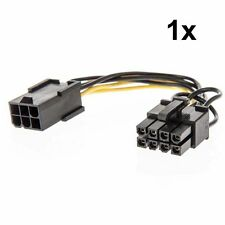 6 Pin Female To 8 Pin Male Power Adapter Cable PCIE 18 AWG 13CM Graphics Card