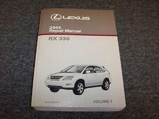 2004 Lexus RX330 Crossover Workshop Shop Service Repair Manual Book Vol1 3.3L V6