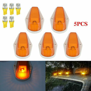 5Pcs For Ford F150 F250 F350 Running Roof Top Cab Clearance Led Lights Amber